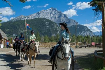 Take a guided Banff horseback ride with your friendly guide