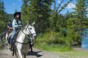 Take a scenic horseback ride along the Bow River