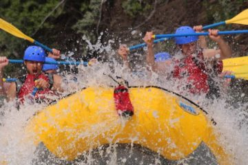 Big Hit on the Kananaskis River with Chinook Rafting in the Canadian Rockies