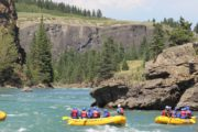 Blue Skies on the Horseshoe Canyon with Chinook Rafting in the Canadian Rockies
