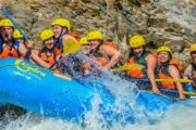 Class Four Rapids on the Kicking Horse Classic Whitewater Rafting Tour with Chinook Rafting in the Canadian Rockies