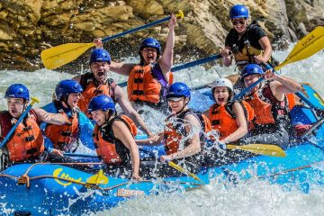 Experience whitewater thrills on the Kicking Horse Classic Whitewater Rafting Tour with Chinook Rafting in the Canadian Rockies