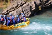 Family friendly rapids fun on the Kananaskis River with Chinook Rafting in the Canadian Rockies