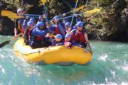 Family friendly rapids on the Kananaskis River with Chinook Rafting in the Canadian Rockies