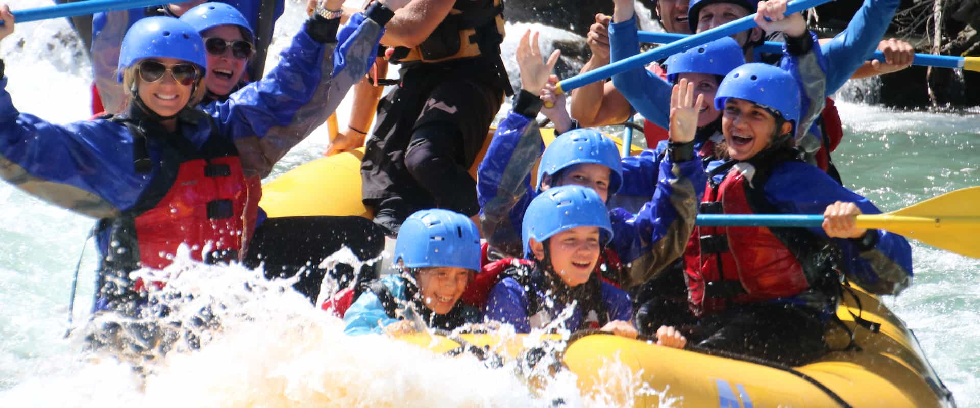 Great family day out with children on the Kananaskis River with Chinook Rafting in the Canadian Rockies