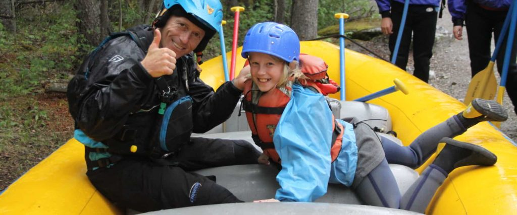 Learn how to raft with an instructional safety talk before the Kananaskis River with Chinook Rafting in the Canadian Rockies