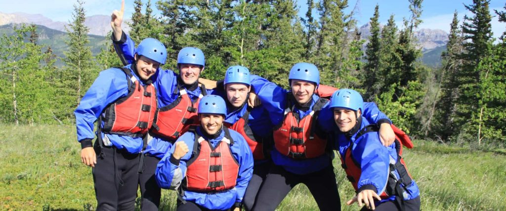 Rafting on the Horseshoe Canyon is perfect for groups with Chinook Rafting in the Canadian Rockies