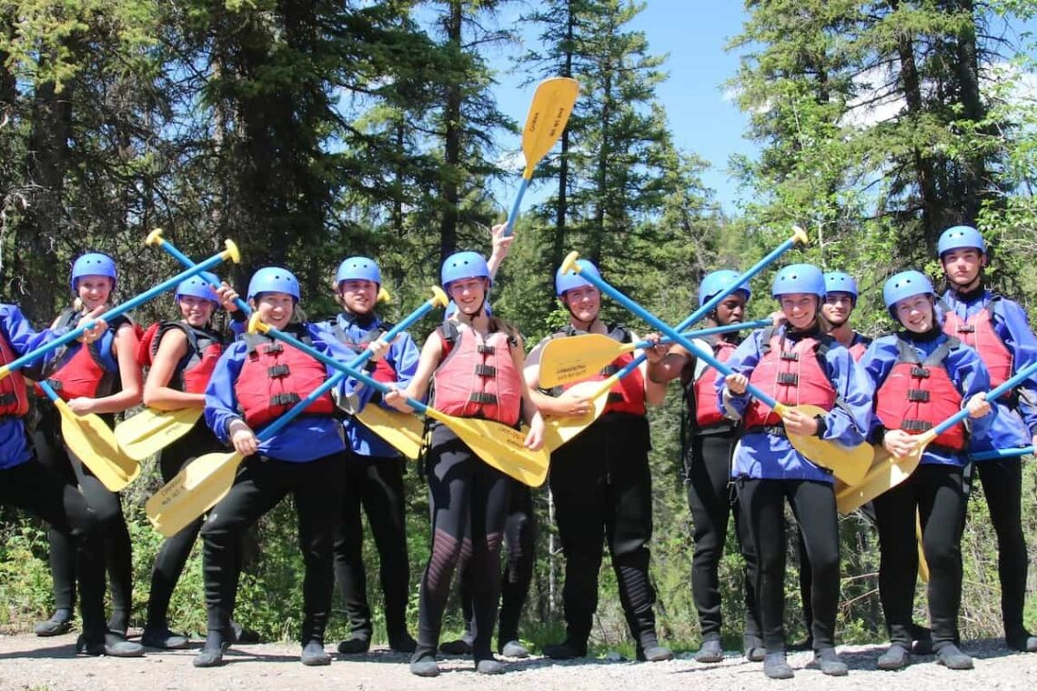 Group whitewater rafting with Chinook Rafting